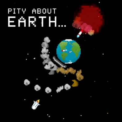 logo for game: Pity About Earth...